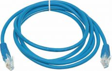 Сетевой кабель Patch cord molded 5E Copper 1m Blue